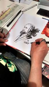 Sessioni di firme e sketch allo stand di Mondadori Comics