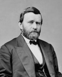Il presidente degli Stati Uniti Ulysses Grant