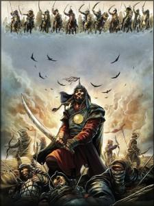 "Cover di ""Gengis Khan"" © Glénat"