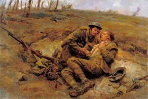 L'illustratore Fortunino Matania fu uno dei massimi cantori della tragedia della guerra