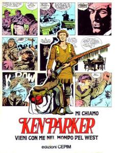 """Locandina pubblicitaria dell'edizione di """"Ken Parker"""" del 1977"""