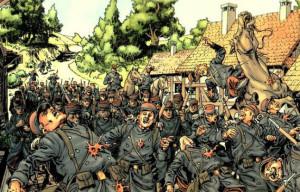 """Sequenze tratte da """"14-18: Il soldatino"""" © Delcourt"""