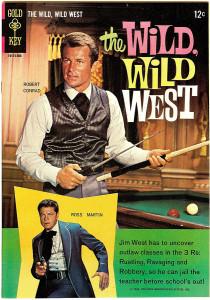 """Una cover del comic-book della Gold Key dedicato, negli anni Sessanta, al  serial TV """"Wild wild West""""."""