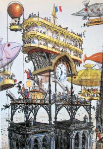I mondi fantastici e futuristici di Albert Robida © degli aventi diritto