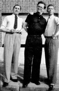"Edgar P. Jacobs, lo sceneggiatore Jacques Van Belkebeke e Hergé, menti de ""Le journal de Tintin"""