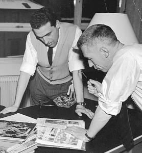 Jacques Martin assieme a Hergé