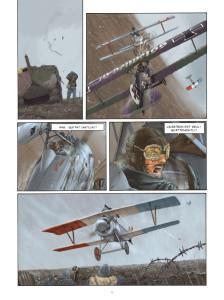 "Alcune sequenze de ""Il pilota dell'Edelweiss"" © Editions Paquet"