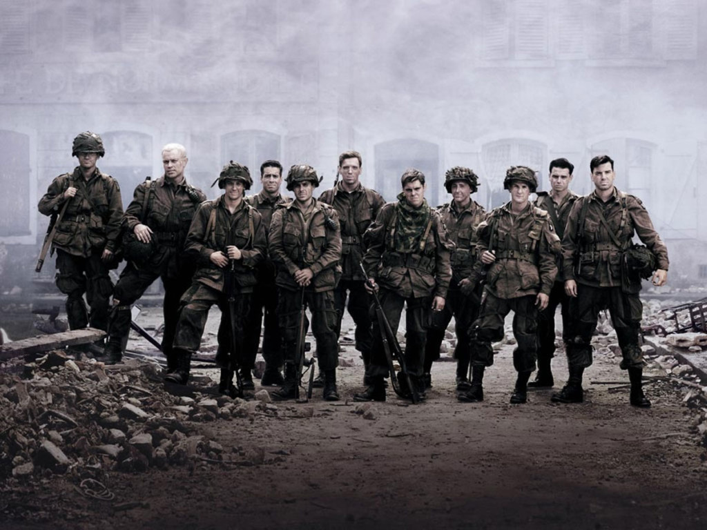 "Il cast della serie TV ""Band of Brothers"" © HBO"