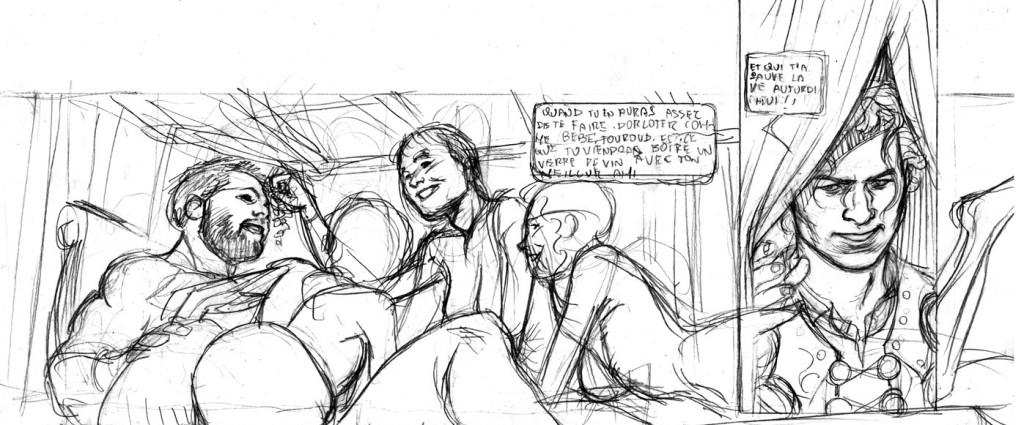 """Lay-out di una vignetta di di """"Tenebre"""""""