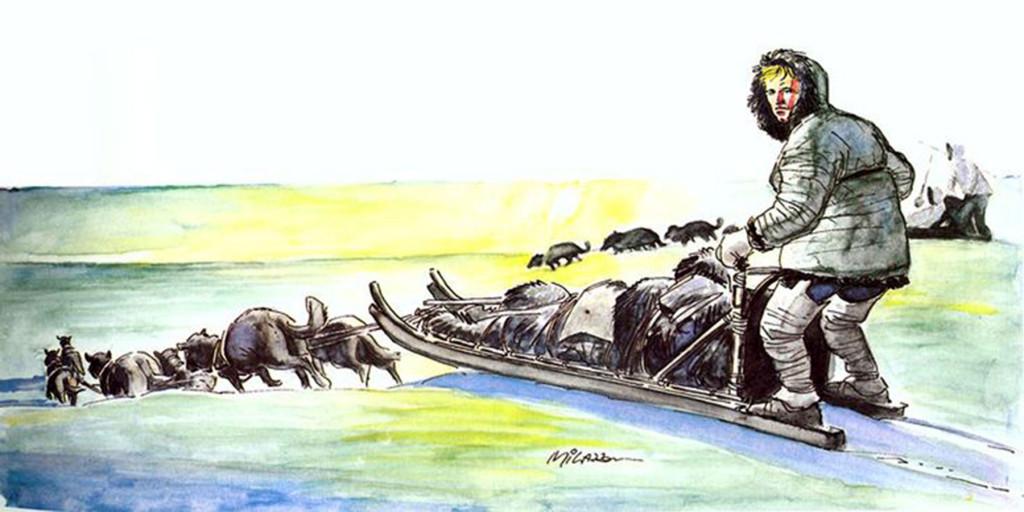 """La cover originale di """"Ken Parker: Il Popolo degli Uomini"""" dipinta da Ivo Milazzo"""