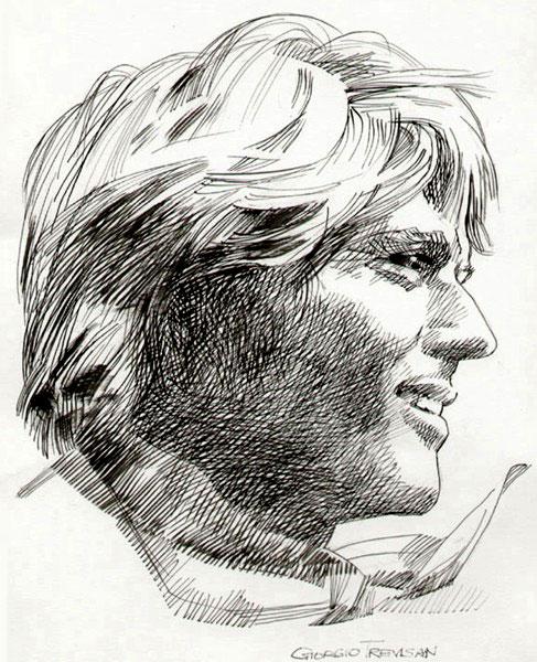 Un profilo di Ken Parker firmato da Giorgio Trevisan
