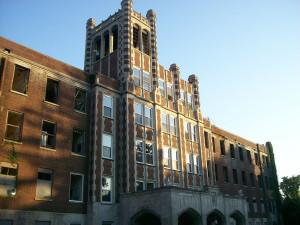 La facciata principale del sanatorio di Waverly Hills