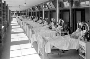 Pazienti del Waverly Hills in un'immagine promozionale del centro